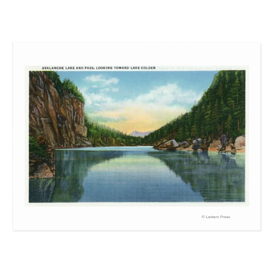 View of Lake Colden from Avalanche Lake Postcard