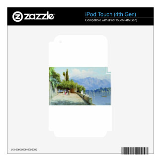 View of Lake Como by Fyodor Bronnikov iPod Touch 4G Skin