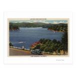 View of Lake Edge Drive Near Dam Postcard