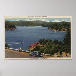 View of Lake Edge Drive Near Dam Poster