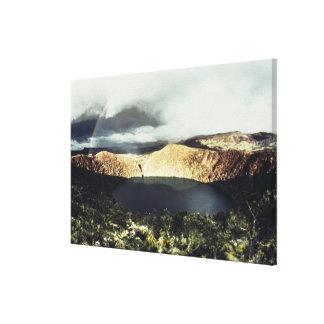 View of Lake Guatavita Canvas Print