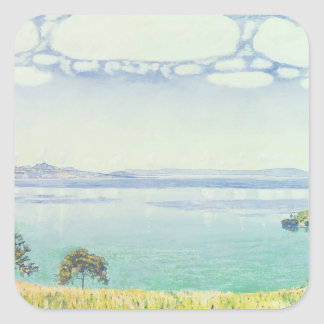 View of Lake Leman from Chexbres, 1905 Square Sticker