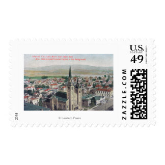 View of Lake Merritt from Union Bank Postage Stamp