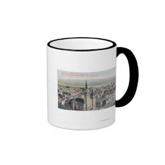 View of Lake Merritt from Union Bank Ringer Mug
