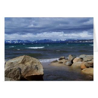 View of Lake Tahoe in Winter Card