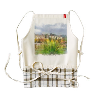 View of lakescape in Switzerland Zazzle HEART Apron