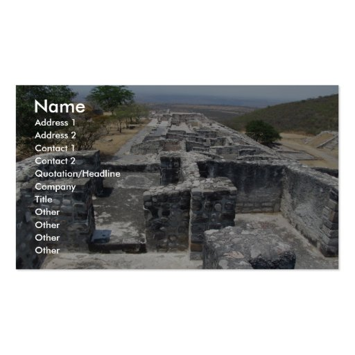 View Of Large Old Fort Double-Sided Standard Business Cards (Pack Of 100)
