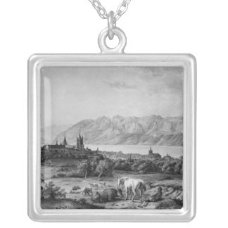 View of Lausanne Silver Plated Necklace