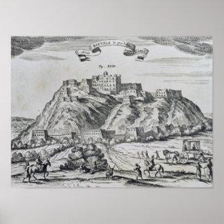 View of Lhasa, capital of Tibet Poster