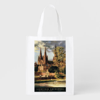 View of Lichfield Cathedral Reusable Grocery Bag
