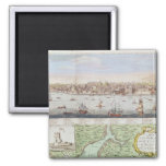 View of Lisbon, 1755 2 Inch Square Magnet