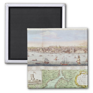 View of Lisbon, 1755 Magnet