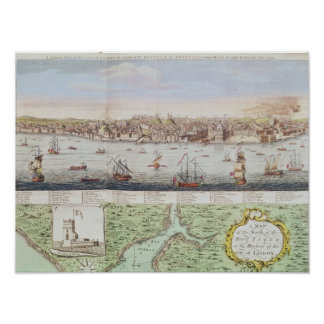 View of Lisbon, 1755 Poster