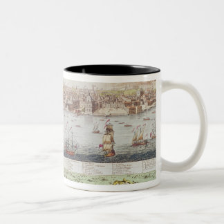 View of Lisbon, 1755 Two-Tone Coffee Mug