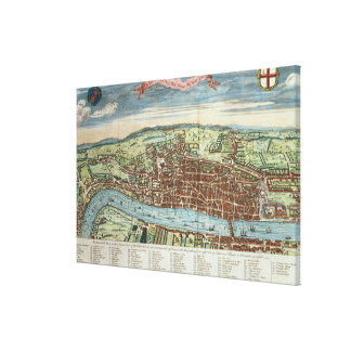 View of London, c.1560 Stretched Canvas Print