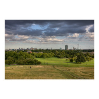 View of London from Primrose Hill Print