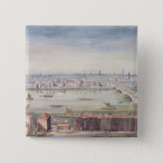 View of London from St. Paul's to the Custom Pinback Button