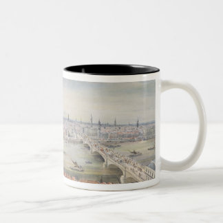 View of London from St. Paul's to the Custom Two-Tone Coffee Mug