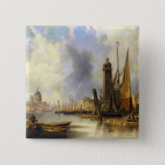 View of London with St. Paul's Button