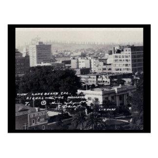 View of Long Beach, California Vintage Postcard