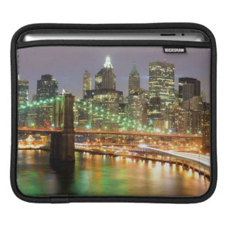 View of Lower Manhattan and the Brooklyn Bridge Sleeves For iPads