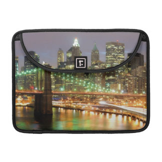 View of Lower Manhattan and the Brooklyn Bridge Sleeves For MacBook Pro