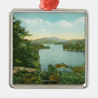 View of Lower Saranac Lake from Bluff Island Metal Ornament