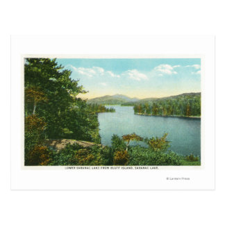 View of Lower Saranac Lake from Bluff Island Postcard