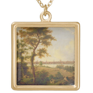 View of Lubeck, 1869 (oil on canvas) Jewelry