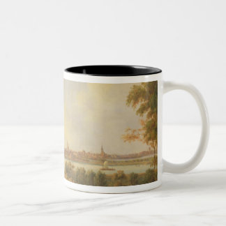 View of Lubeck, 1869 (oil on canvas) Two-Tone Coffee Mug