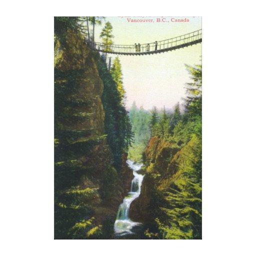 View of Lynn Canyon Suspension Bridge Canvas Print