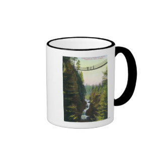 View of Lynn Canyon Suspension Bridge Coffee Mug
