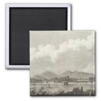 View of Macao in China 2 Inch Square Magnet