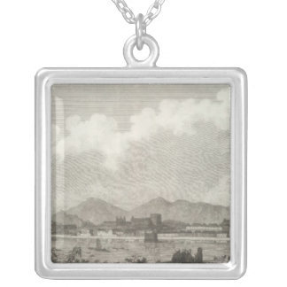 View of Macao in China Silver Plated Necklace
