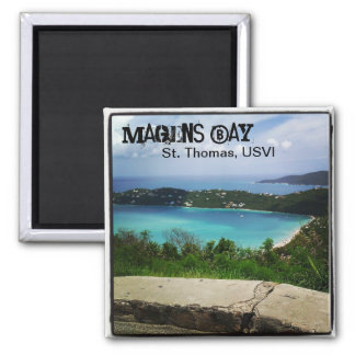 View of Magens Bay, St. Thomas, USVI 2 Inch Square Magnet