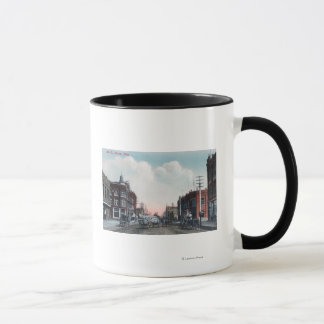 View of Main Street and Horse Carriages Mug