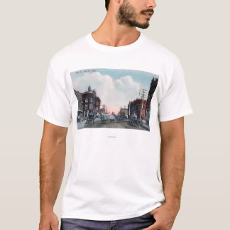 View of Main Street and Horse Carriages T-Shirt
