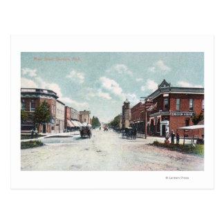 View of Main StreetDavison, MI Postcard