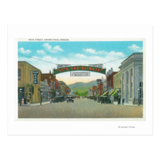 View of Main StreetGrants Pass, OR Postcard