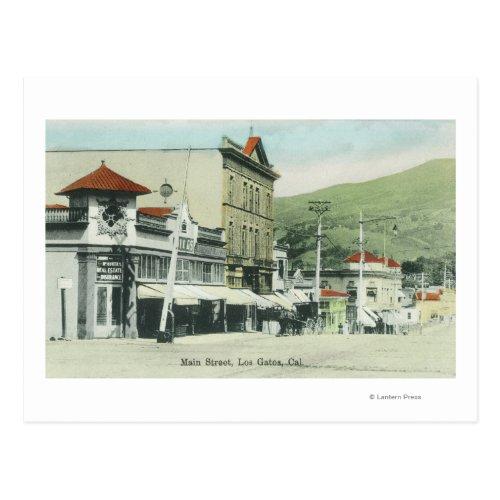 View of Main StreetLos Gatos CA 2 Postcard
