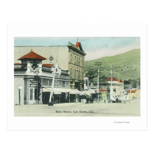 View of Main StreetLos Gatos, CA 2 Postcard