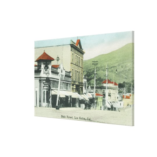 View of Main StreetLos Gatos, CA Canvas Print
