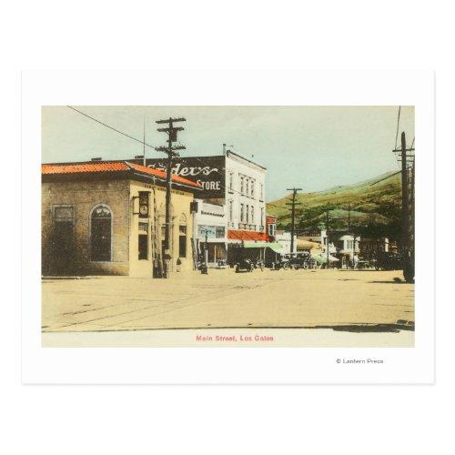 View of Main StreetLos Gatos CA Postcard