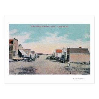 View of Main StreetMansfield, WA Postcard