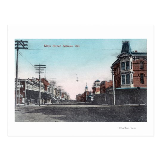 View of Main StreetSalinas, CA Postcard