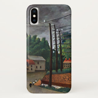 View of Malakoff by Henri Rousseau, Vintage Art iPhone X Case