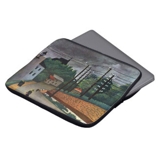 View of Malakoff by Rousseau Vintage Impressionism Computer Sleeves