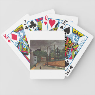 View of Malakoff Hauts de Seine by Henri Rousseau Bicycle Playing Cards