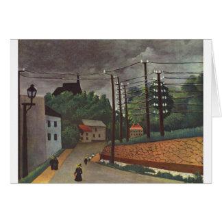 View of Malakoff Hauts de Seine by Henri Rousseau Card