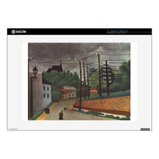 "View of Malakoff Hauts de Seine by Henri Rousseau Decals For 15"" Laptops"